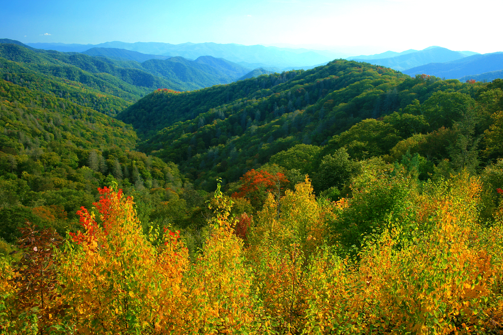 View of the Great Smoky Mountains National Park