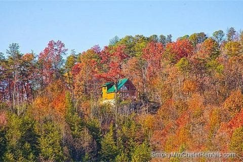 View of the Serenity cabin in the Smoky Mountains