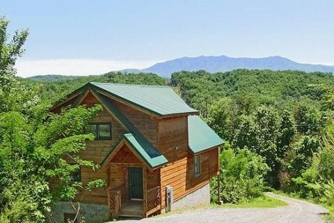 A cabin rental in the Smoky Mountains of Tennessee.