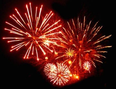 A stunning fireworks display.