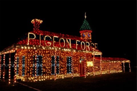 Sparkling Christmas lights in Pigeon Forge.
