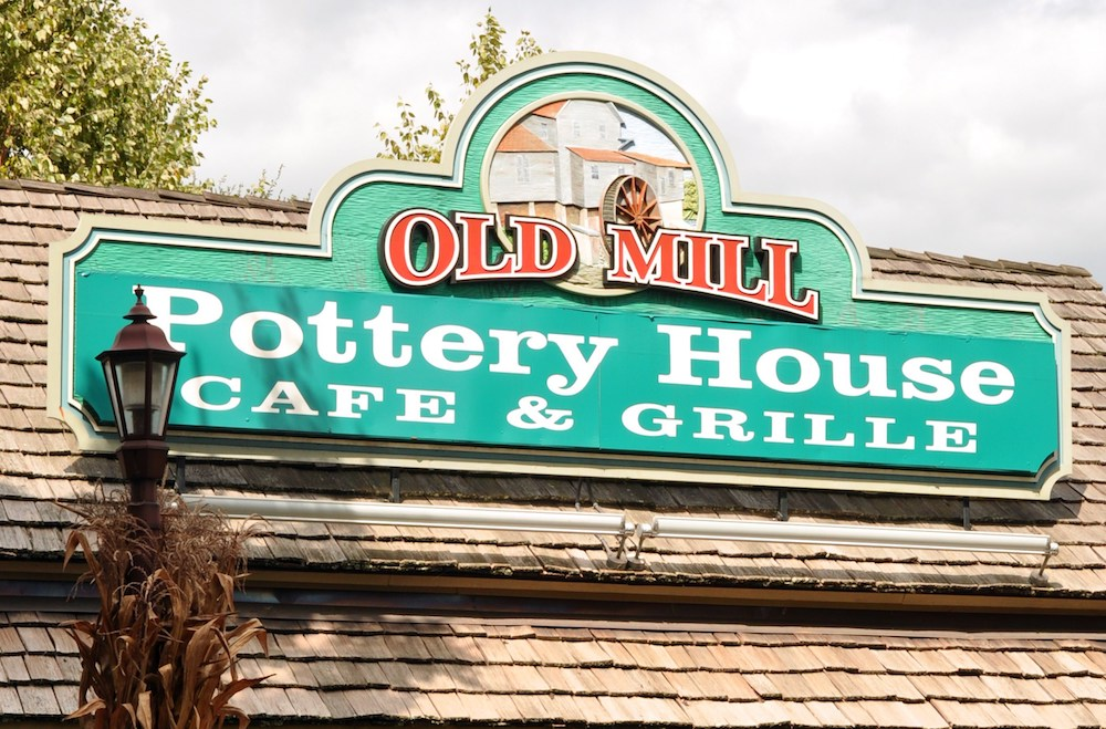 The Old Mill Pottery House Cafe in Pigeon Forge Tn