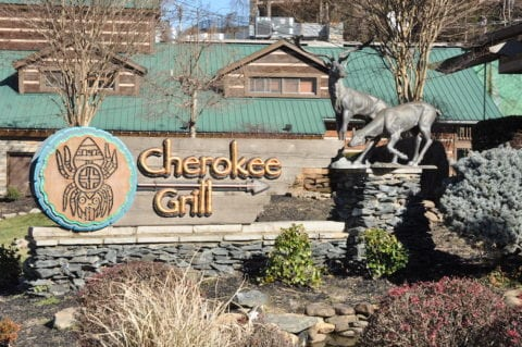 The Cherokee Grill in Gatlinburg.