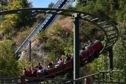 The FireChaser Express roller coaster at Dollywood.