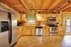 stress relief cabin kitchen