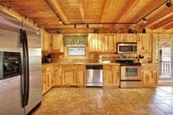 stress relief cabin kitchen