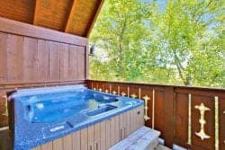 Hot tube on a deck