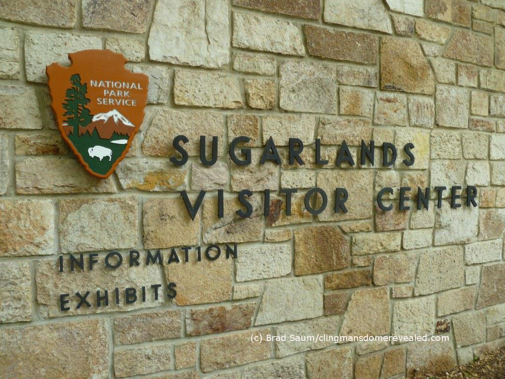 Sugarlands visitor center sign