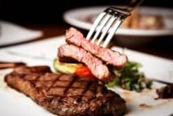 delicious steak and fork