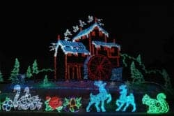 winterfest lights in the smoky mountains