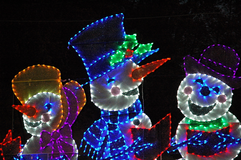 snowmen lights winterfest